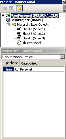 How do I create and use a PERSONAL file for my VBA code