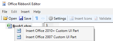 Change the Ribbon in Excel 2007 and up
